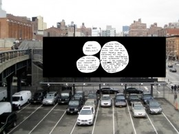 David Shrigley's billboard near High Line